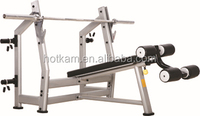 Oval tube Decline Bench gym bench machine fitness equipment
