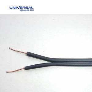 PE/PVC Insulated Parallel Drop Wires to RUS (REA) PE-7 Aerial Drop Telephone Cable