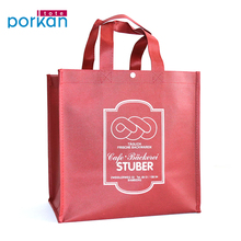 Colorful Durable Snap Fastener Recycle Nonwoven Big Shopper Bags
