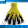QL soft fit industry knitting liner safety latex coated knit gloves