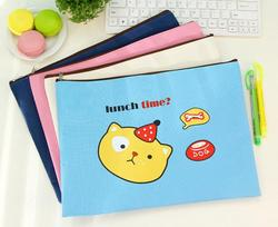 promotion gifts A4 stationery file pocket folders ,pencil and mobil phone bags, cute cartoon animal printed file bag with zipper
