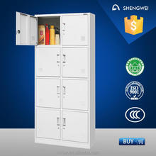 8 doors steel locker metal cabinet shelf clips with low price