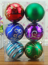 Factory glitter christmas ball, outdoor christmas lighted balls