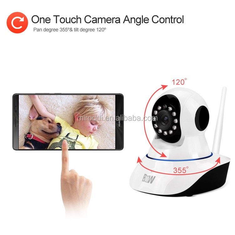 Factory Direct 720p megapixel computing real-time IP baby monitor and cameras with 2-way talk