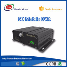 Mobile Dvr 4CH 720P HD Double SD CARD (128GB*2) Vehicle DVR For Bus Security , Only Gps