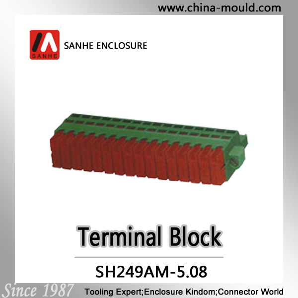 Sanhe connector Manufacture pluggable terminal block 5.08mm tool case