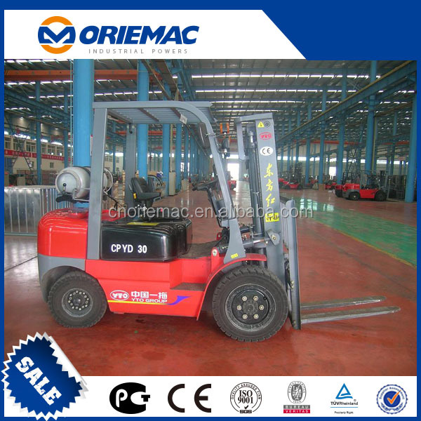 YTO 3t gasoline and lpg forklift CPYD30