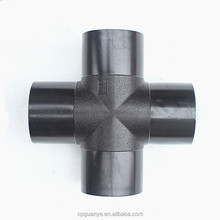 Plastic pvc PE pipe fittings cross Tee for connecting water pipe