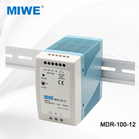 MDR series ac to dc industrial din rail power supply 100W 12V 7.5A