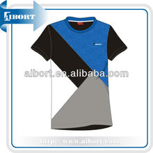 Blank 100 cotton t-shirts,color combination t shirts,stylish tee (SSE-1)
