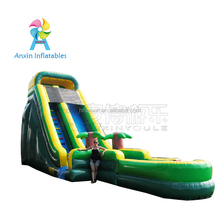 Comercial big vertical inflatable water slide with water pool for sale
