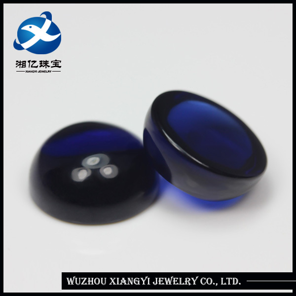 wholesale china sapphire glass semi precious stone cabochons wholesale