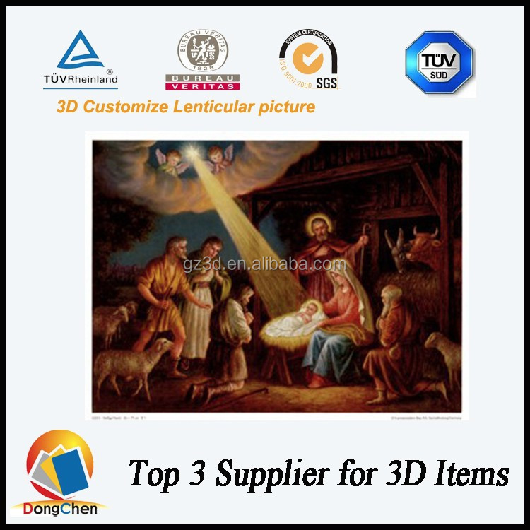 Religious 3D Picture of Jesus Christian Birth