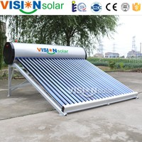 Evacuated tube collector non-pressurized solar water heater solar products