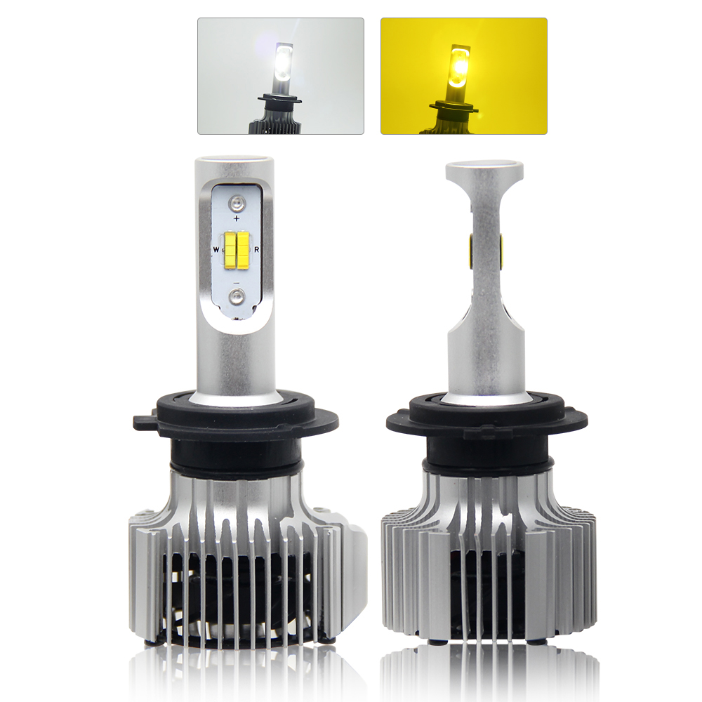 White <strong>Yellow</strong> 2 Color Car <strong>Bulbs</strong> H1 H3 H8 <strong>H10</strong> H11 H13 9005 9006 9012 9007 Auto Led Headlight H4 Led H7