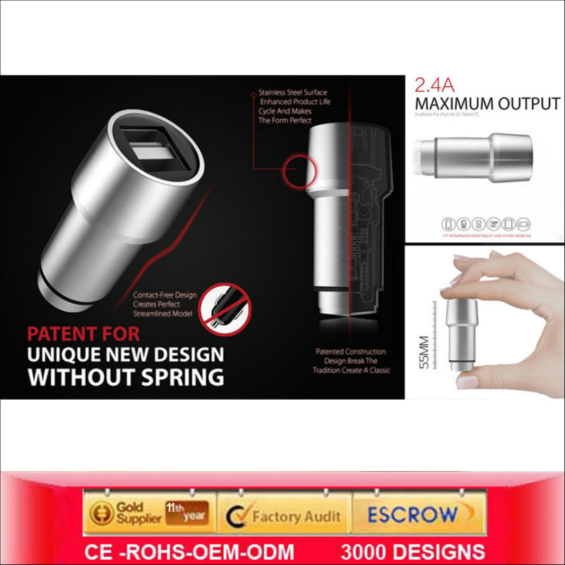 Sustyle SU-C2 Dual Usb Car Charger Smart Phone alibaba website