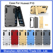 High Quality Iron Man Series Protective Cover Shockproof TPU+PC Hard Stand Phone Cover For Huawei P10 P10 Plus