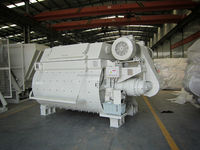 Twin Shaft Concrete Mixer with output capacity: 750L-6000L