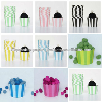Red Stripe Cupcake Cases Cupcake Supplies Baking Cups Paper Cupcake Liner Baking Cup Cupcake Papers cupcake liners Muffin Cups