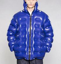Latest Design Mens Latex / Rubber Casual Life puffer Jacket Inflatable clothing
