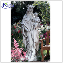 life size outdoor garden decoration resin mary and baby jesus statueNT-FS127D
