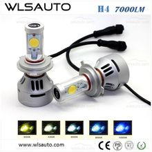 New Welcomed Car H4 LED Headlight Bulbs 2 pcs c-ree LED Head Light H4 LED For Car, Auto, Motorcycle H4 H7 H8 H9 H10 H11 H16