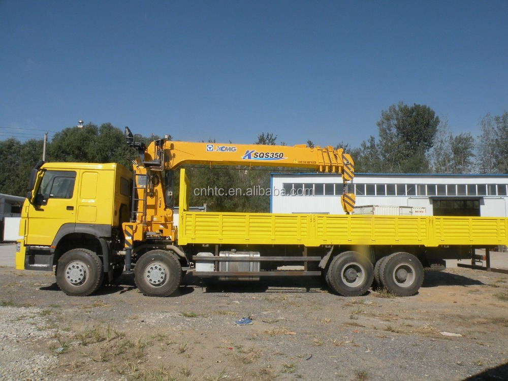 HOWO 25T Truck With 12T Crane Truck For Sale