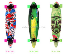 Custom high quality PU wheels longboard skateboard,longboard deck,professional longboard