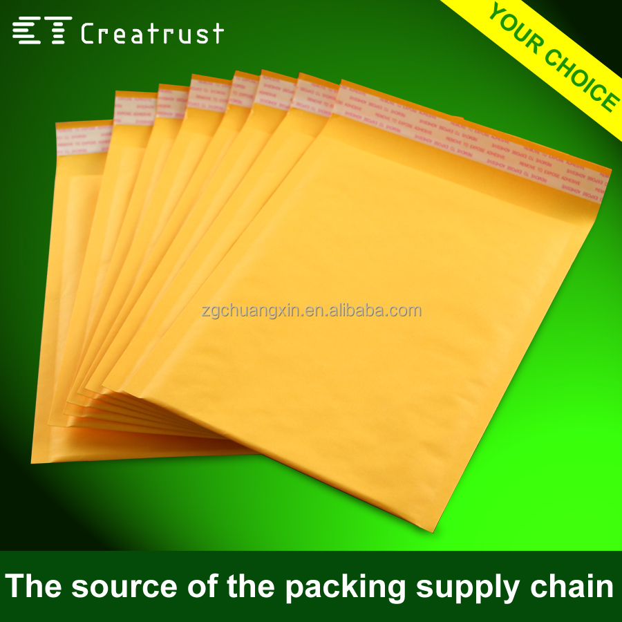 2016 Durable Wholesale Karft Paper Bubble Bags for courier packing