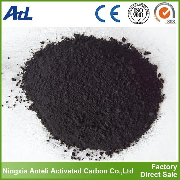 black charcoal powdered wood activated carbon