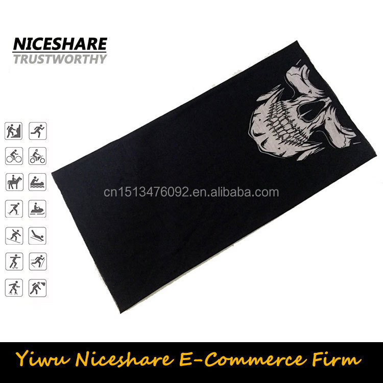 OEM fabric custom skull printing multi tubular dogs bandana headwear
