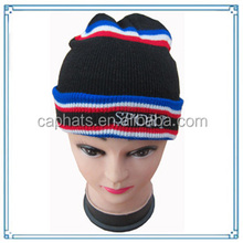 2014 hot sale custom design hat knitted beanies men embroidery cap(KXE-004)