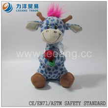 China custom cute stuffed baby toy chiristmas plush deer with flower rose, Custom toys,CE/ASTM safety stardard