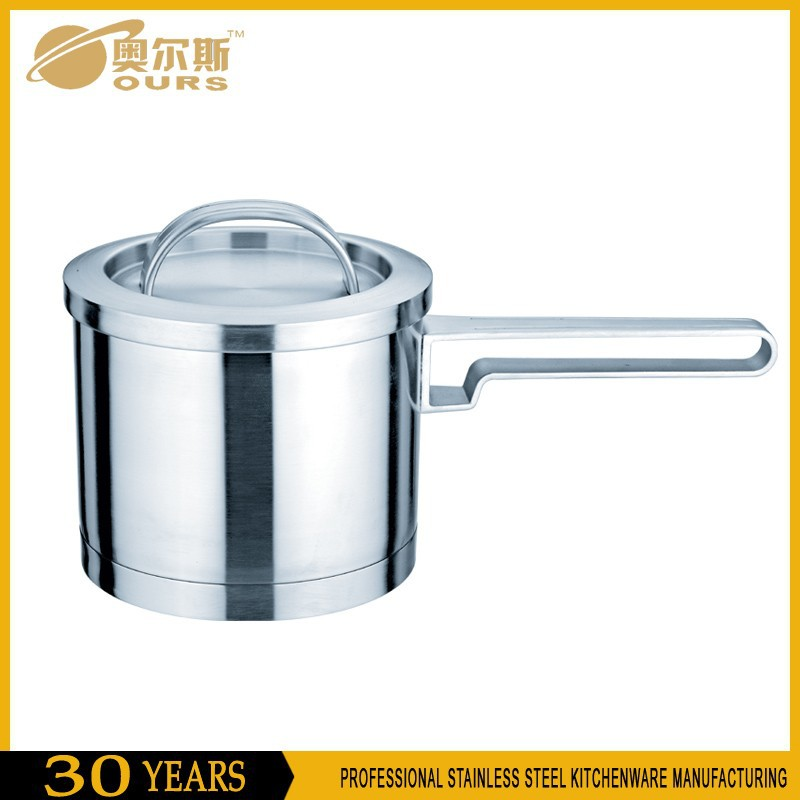 Deep milk boiling pot/stainless steel sauce pan/stainless steel milk pot