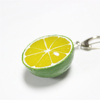 christmas ornaments realistic artificial fruit fake lime custom keychain
