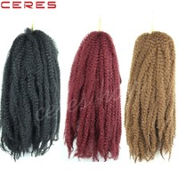 Afro kinky Marley braid hair 18 inch synthetic hair twist braid extension