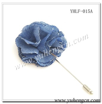 YHLF-015A Fashion Blue Fluffy Flower Pins,Lapel Flowers,Brooches,Various Colors Available
