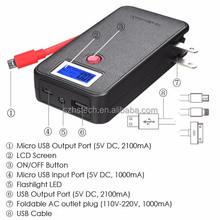 2016 Best Seller Factory Price Ultra Slim mobile portable Power Bank Battery Phone Charger 5200MAH with Built-in cable