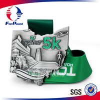 Glitter 5K Finisher Medals With Sublimated