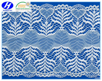 2016 african lace fabrics hongtai textile high-end cotton nylon lace trimming guipure lace fabric