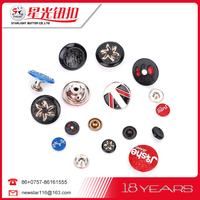 wholesale Round metal shank buttons for Jeans