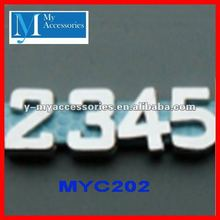 wholesale number charms slide charms