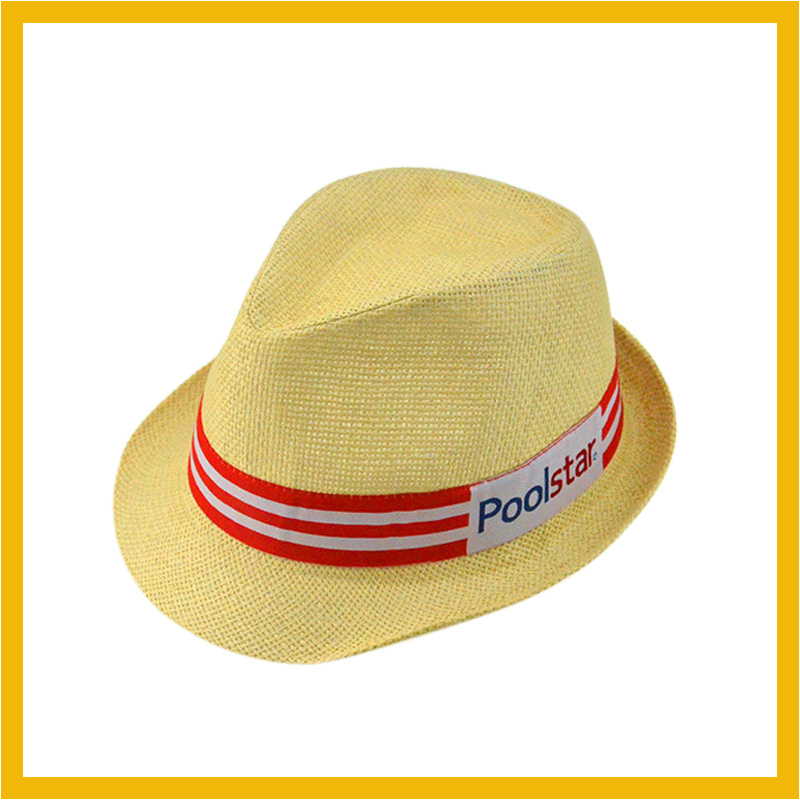 Custom Cheap Paper Cloth Fedora Hat