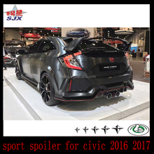 spoiler for newcivi-c 2016 2017 TYPE-R MUGEN STYLE CARBON FIBER SPOILER FOR HONDA CIVI-C 10th