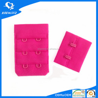 Fluo rose polyester hooks and eyes for sleep dress 3*2
