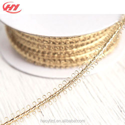 Top Quality Great Decor Projects Gold Picot Braid Trim for Dress Sewing