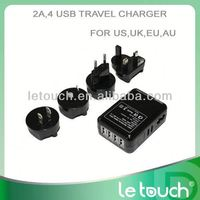 usb multi mobile phone wall chargers with USB adapter AC charger for iphone/ipad/ipod
