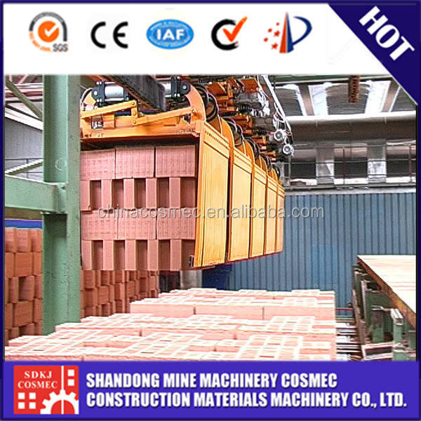 Brick production line / brick loading and unloading