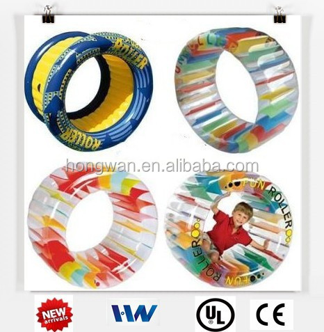 pvc small Inflatable water roller wheel roller skate pvc wheel for kids