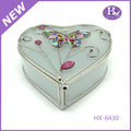 New Product HX-6430 Heart Shape Frosted Glass Acrylic Jewelry Storage Box